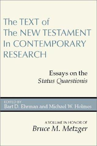 The text of the New Testament in contemporary research by