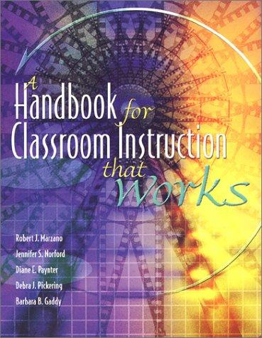Image 0 of A Handbook for Classroom Instruction That Works