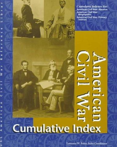 American Civil War reference library cumulative index by
