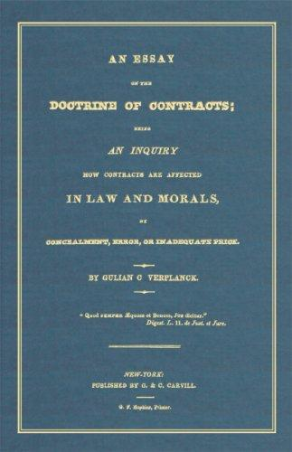 An essay on the doctrine of contracts
