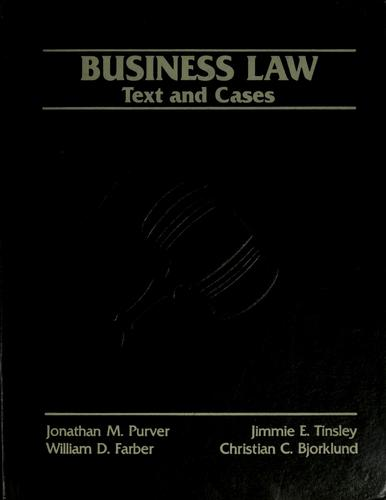 Business law by Jonathan M. Purver