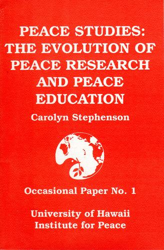 Peace studies by Carolyn M. Stephenson