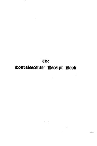 The convalescents' receipt book by