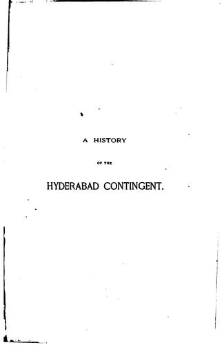 A History of the Hyderabad Contingent by