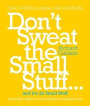 Dont Sweat The Small Stuff