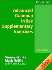 Advanced Grammar in Use Supplementary Exercises + key