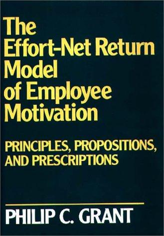 The effort-net return model of employee motivation by Philip C. Grant