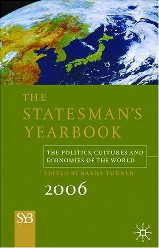 Statesman's Yearbook 2006, 142nd Edition by Barry Turner