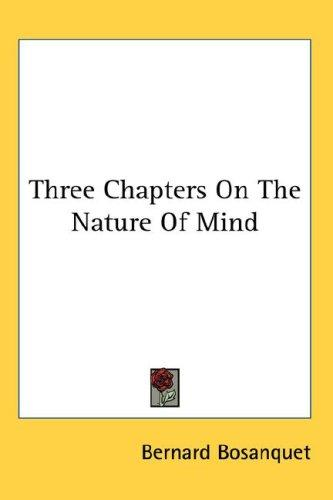 Three Chapters On The Nature Of Mind