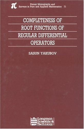 Completeness of root functions of regular differential operators by S. Yakubov