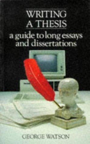 Writing a thesis by Watson, George