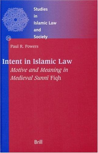 Intent in Islamic Law