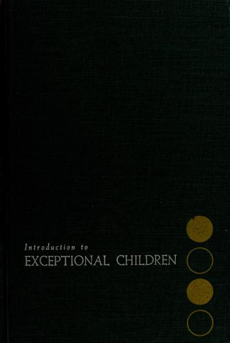 Introduction to exceptional children.