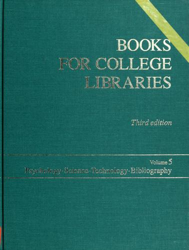 Books for College Libraries by Ala&S Association of College & Research, Association of College and Research Libr