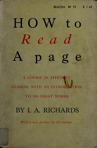 How to read a page