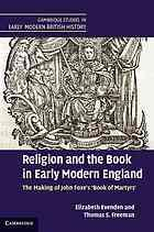 Religion and the book in early modern England by Elizabeth Evenden