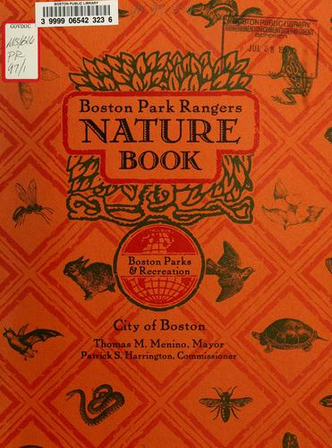 Boston park rangers nature book by Joy Reo