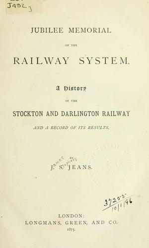 Jubilee memorial of the railway system by Jeans, James Stephen