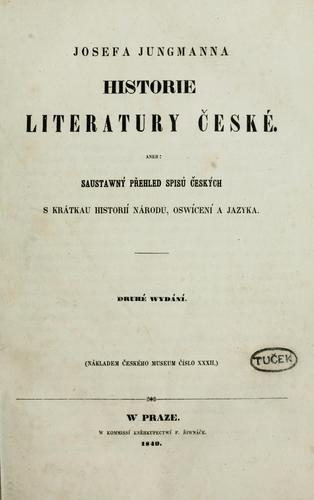 Josefa Jungmanna Historie literatury ceské
