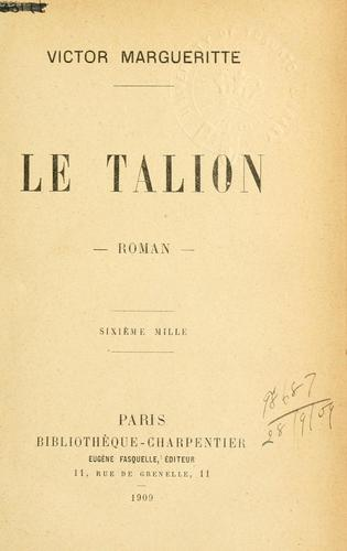 Le talion by Victor Margueritte