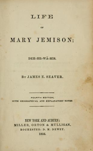 Life of Mary Jemison