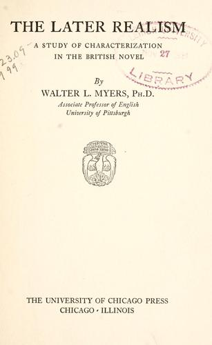 The later realism by Walter Lawrence Myers