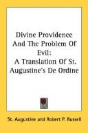 Divine Providence And The Problem Of Evil by Augustine of Hippo