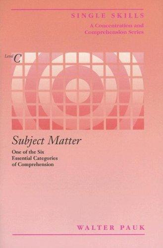 Single Skill: Subject Matter