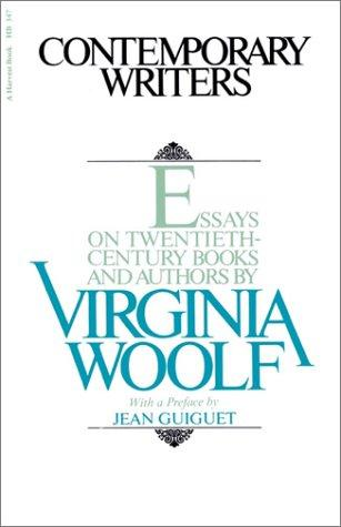 Contemporary writers by Virginia Woolf