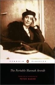 Hannah Arendt: The Portable Hannah Arendt