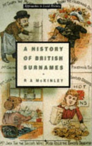 A history of British surnames by R. A. McKinley